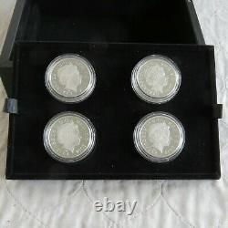 Uk 2014 Portrait De Bretagne Landmark 4 X £ 5 Complète Couleur Proof Silver Set