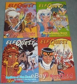 Us Elfquest Book 1 8 Ensemble Complet À Couverture Rigide Rare & Oop Color Hc Kings Two-edge