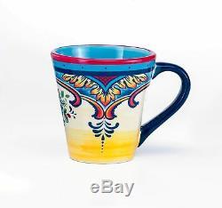 Vaisselle 16 Pièces Vaisselle Pour 4 Personnes Floral Coloré Fête Style Bohème