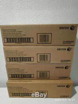 Véritable Couleur Xerox Oem 550 Complete Drum Set 013r00663 + 3 X 013r00664