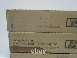 Véritable Xerox Toner Color 550 560 570 C60 C70 Ensemble Complet Cmyk Nouveau Scellé