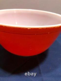 Verre Vintage Pyrex Couleurs Primaires Complètes 4 Pc Nesting Jatte Set 401-404