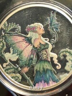 Very Le Amy Brown Fairy Series Ensemble Complet De 6 1 Oz. Proofs En Argent Colorisé