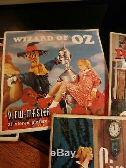 Viewmaster Vintage Sawyer, Cas Et 9 Ensembles Complets De Bobine. Disney Et Plus