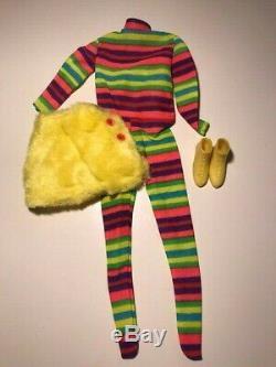 Vintage 1971 Mod Mattel Poupée Barbie Outfit # 3422 La Couleur Complete Set Coup De Pied