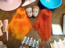 Vintage Barbie Couleur N Curl Set Withworking Seche Perruques Bigoudis Complet Exc Pres