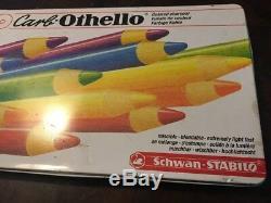Vintage Carb-othello Couleur Fusain Crayon Set Stabilo Presque Complet