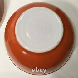 Vintage Pyrex Americana Fall Colors Mixing Nesting Bowls Complete Set Perfect