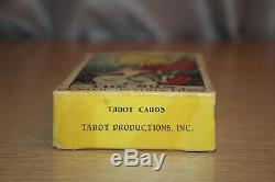 Vtg 1968 Albano-waite New Color Deluxe Edition Tarot Cartes (78) Complete Set USA