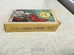 Vtg 1968 Albano-waite Nouvelle Couleur Deluxe Edition Cartes Tarot (78) Jeu Complet Etats-unis