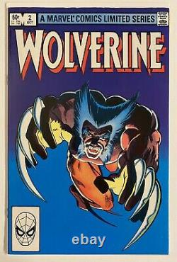 Wolverine Limited Series #1-4 1982 Frank Miller Claremont. Merveilleux Comics. Vf+