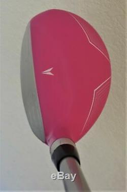 Womens Complète Golf Set Pilote En Bois Hybride Irons Putter Sac Dames Rose Couleur