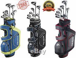 XL 13 Pièces Ensemble Complet De Golf Avec Le Sac Droitier Ou Gaucher Sélectionner Une Couleur Top Flite