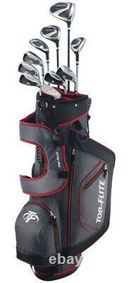 XL 13 Pièces Ensemble Complet De Golf Complet Avec Sac À Droite Ou À Gaucher Rouge De Couleur Rouge Flite