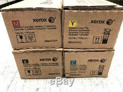 Xerox Toner Pour Authentique 550 Couleurs, 560, 570, C60, C70. Complete Set-cmyk Nouveau